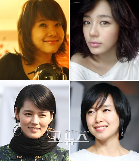 Short Hair Korean Actress. dresses Korean Hairstyles Of
