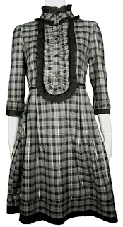 Korean Style Fall Winter Tartan Dress