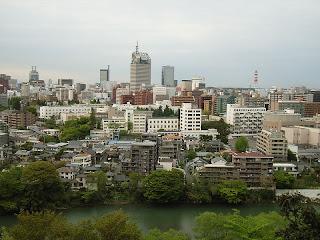 sendai downton from Atago Shrine