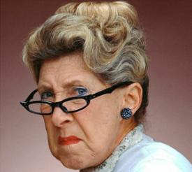 Image result for old woman grumpy coffee