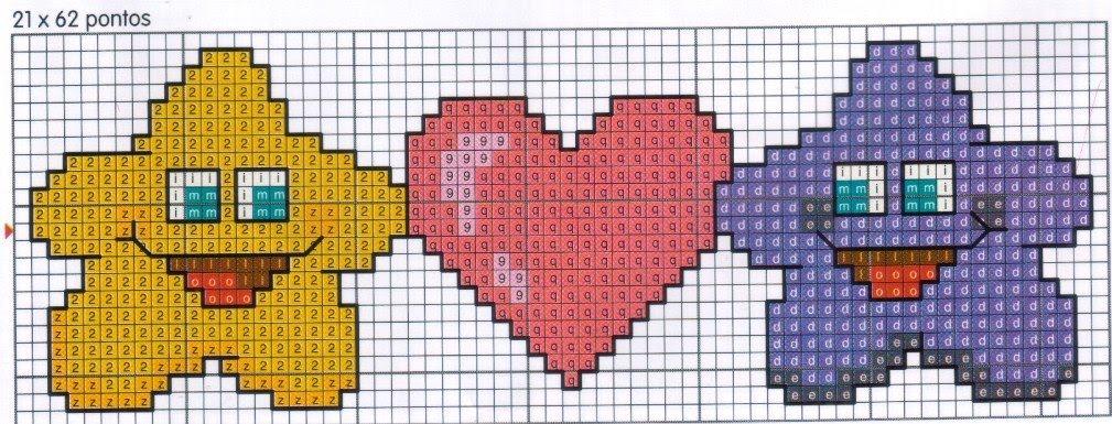 Schemi a punto croce per san valentino arte del ricamo for Punto croce schemi facili