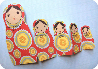 craft project: russian nesting doll card