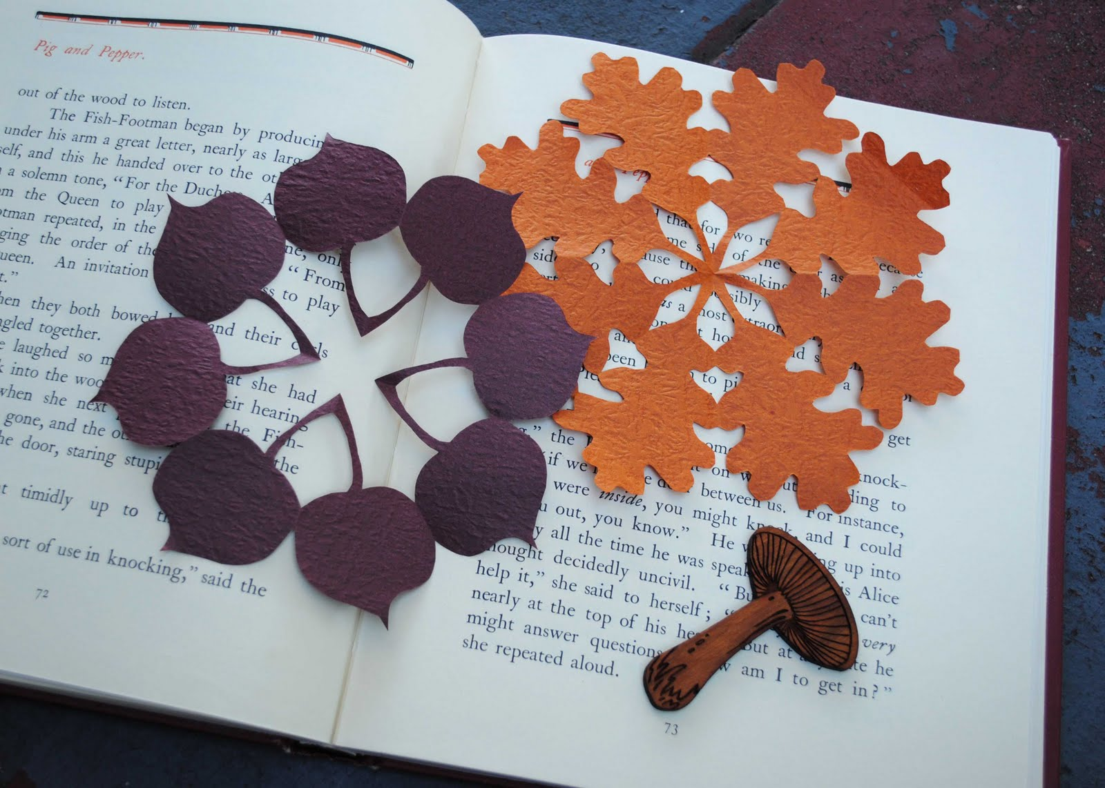 zakka life: Craft: Kirigami Fall Decorations