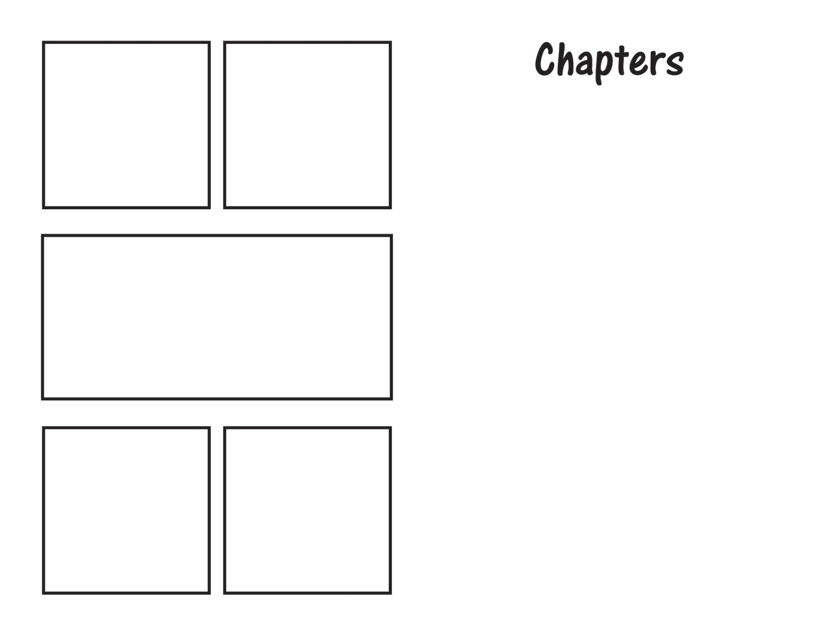 blank comic book template kid craft comic books