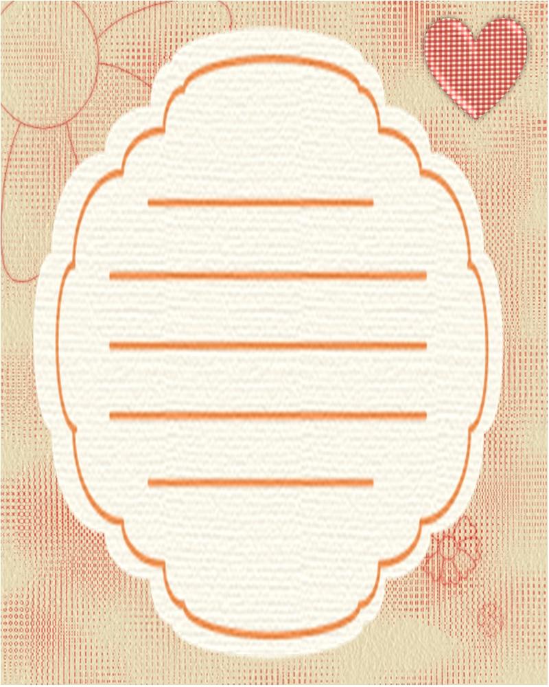 Cosas de shuare plantillas para cartas flores beiges - Plantillas pared ...