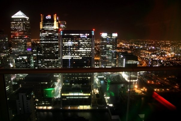 Looking out at Canary Wharf. & Attic Bar (Canary Wharf) | savourthisflavour