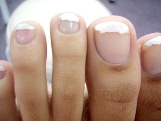 perfect nail work before pedicure bad french nails