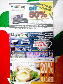 voucher for cube city mall and maxprint kota kinabalu sabah