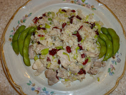 Fried Rice with Chicken and Dried Cranberries
