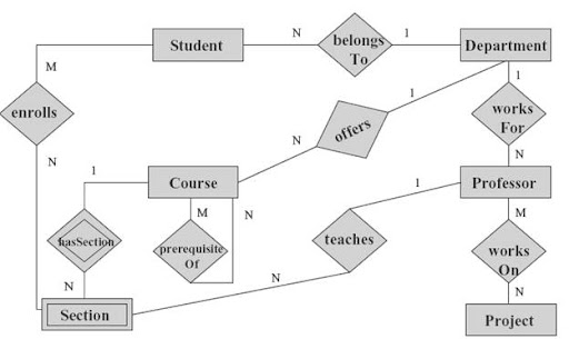 Web Gurus  Er Diagram For A College System Best Tutorials