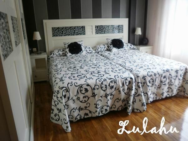 Los telarines de lula dormitorio blanco y negro - Cojines para dormitorio ...