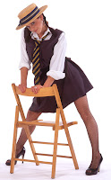 Emily Booth Dressed as a Schoolgirl