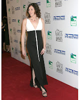 Jorja Fox Flashes Some Thigh
