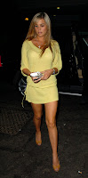 Danielle Lloyd Shows Off Her Legs