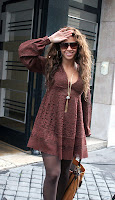 Beyonce Flashes Her Stocking Tops