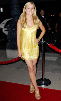 Kristen Bell in a Short Yellow Dress
