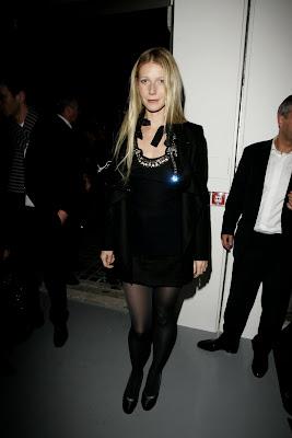 <br />Gwyneth Paltrow in Black Nylons
