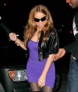 Mariah Carey in Black Nylons & Boots