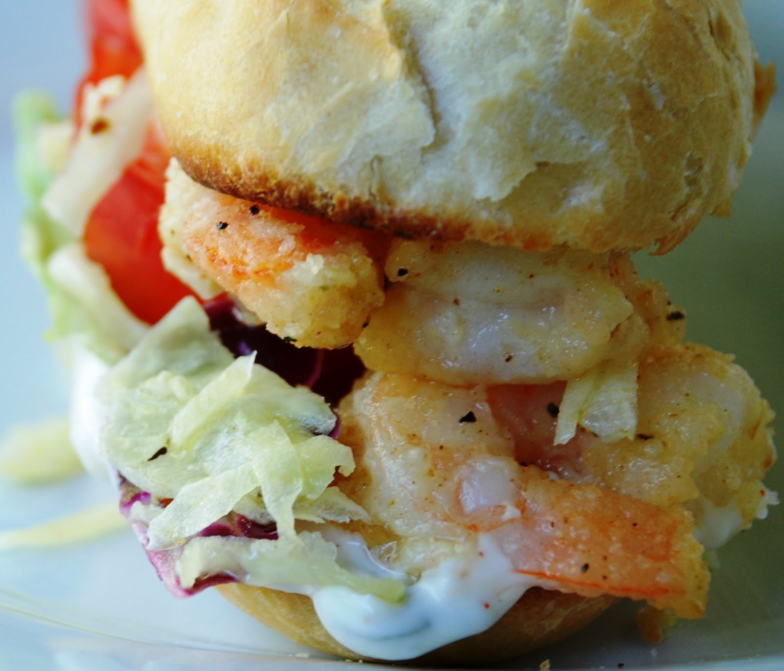 CupCakes and CrabLegs: New Orleans Shrimp PoBoy Sandwich
