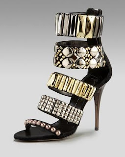 Fashion Find Must Have: Giuseppe Zanotti Zip Cuffed Jewel Sandals