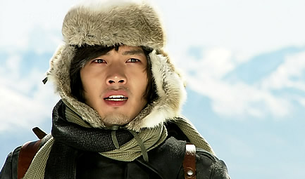 Hyun Bin in Lapland, the home of the Snow Queen.