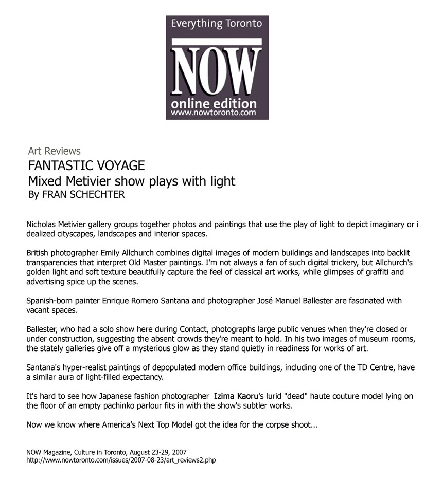 VON LINTEL GALLERY | LA: IZIMA KAORU | SELECTED PRESS