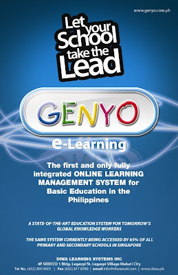 """genyo e learning program One such school is st paul college pasig, which decided to utilize genyo e- learning in delivering learning modules to its student athletes training and competing abroad in its academic support program """"even when they are not inside the classroom, they can access their current lessons through genyo,"""" says ms lilibeth."""