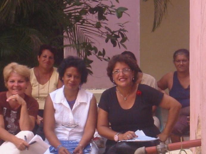 Leticia, Magdalena, Isabel y Alina
