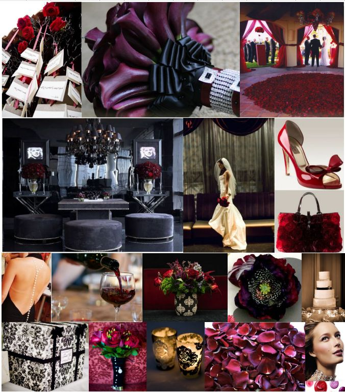 For red, black and white wedding theme ideas and decorations visit