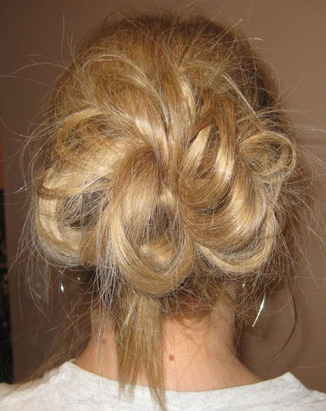 My Bumpy Middle Aged Long Hair Journey Messy Bun Updo