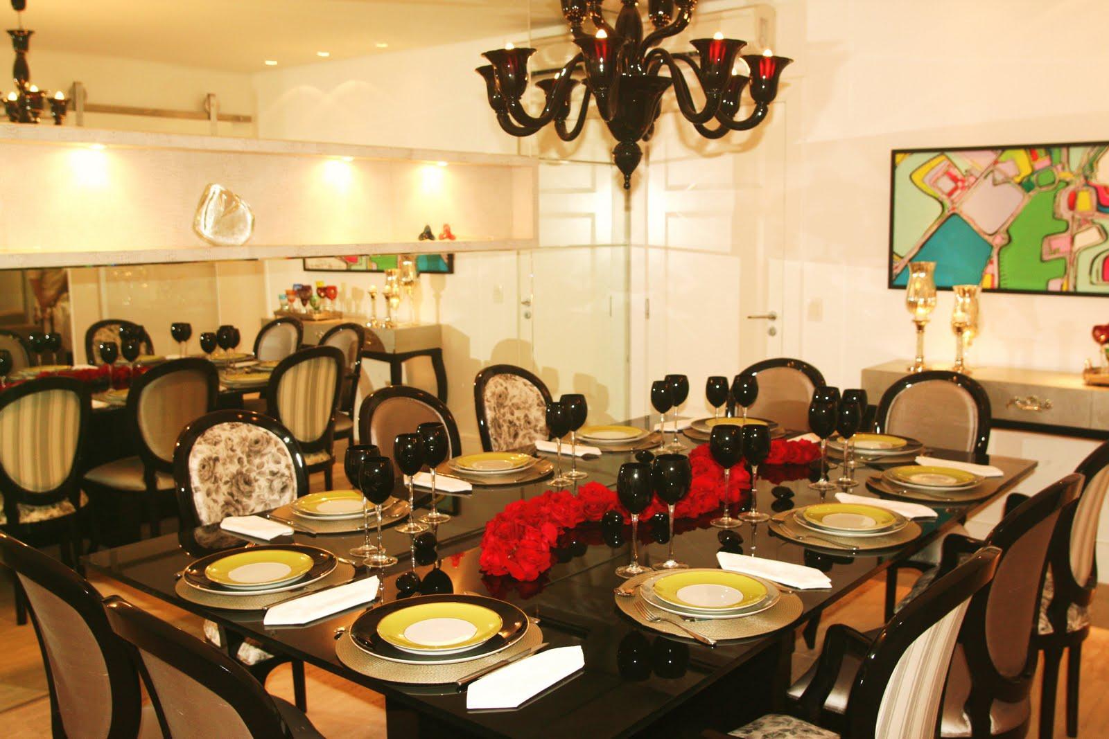 Sala Jantar Laca Preta ~  Hall painéisestantes  Najulê Interiores Sala de Jantar
