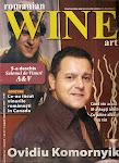 "Ovidiu Komornyik pe coperta revistei ""WINE art""."