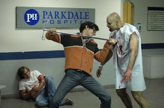 IV poles are poor weapons against zombies