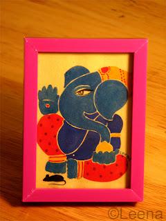 My Blue Ganesha by Leena