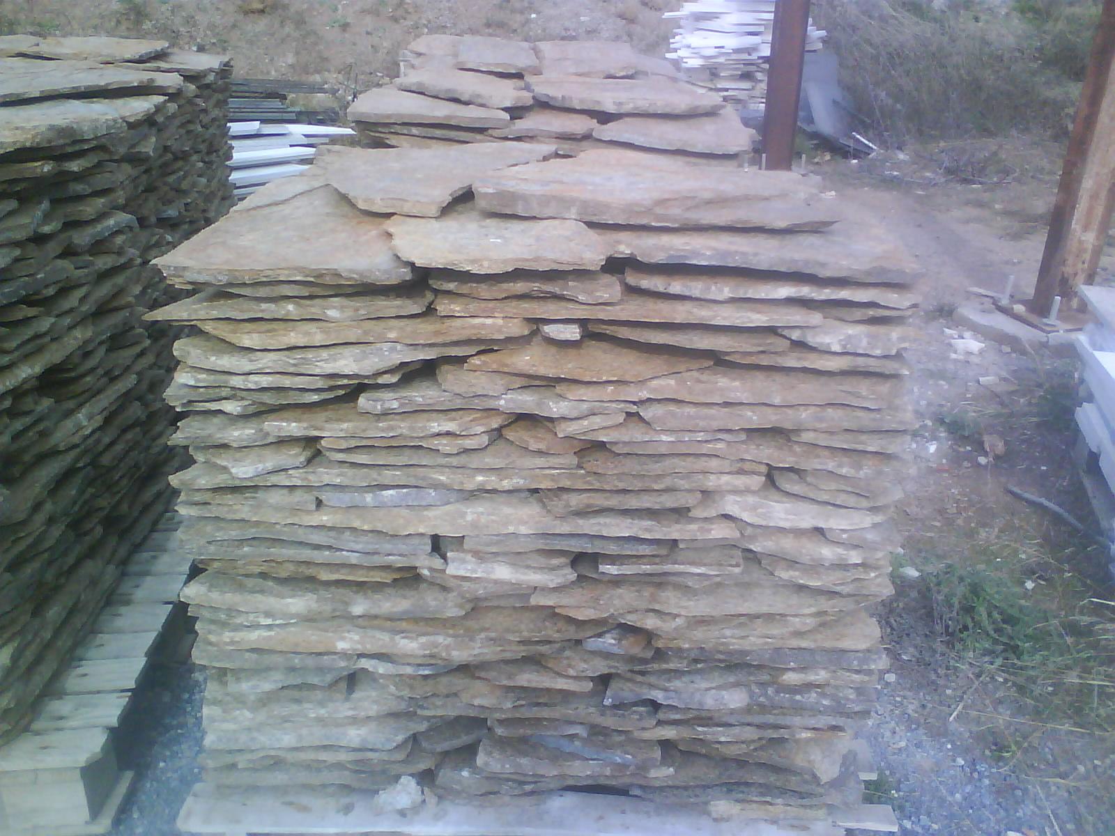 Piedra rustica natural aleros for Piedra natural pizarra