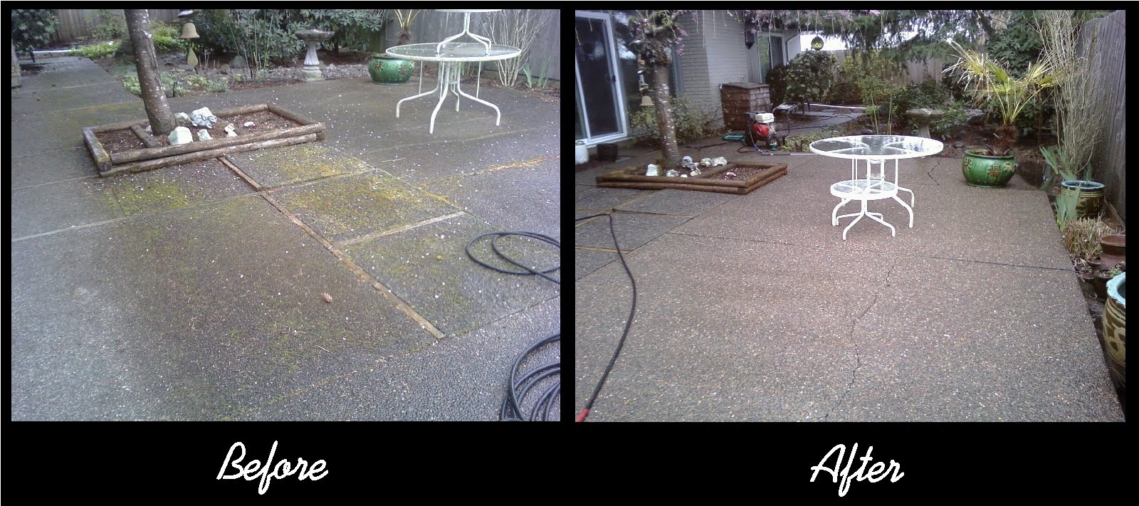 concrete to how clean with without after washer pressure patio cleaning
