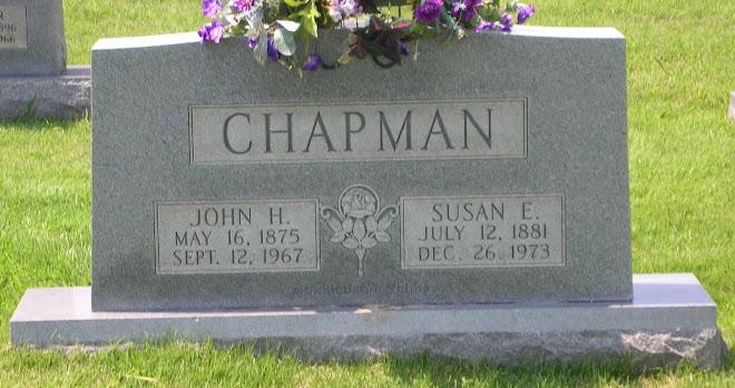 Aunt Susan Ellen Southard Chapman's stone.