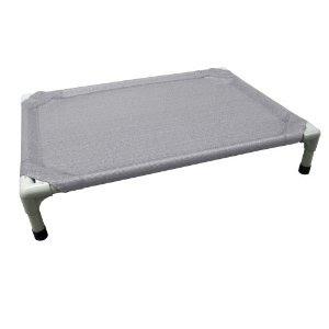 coolaroo aluminum pet bed gray