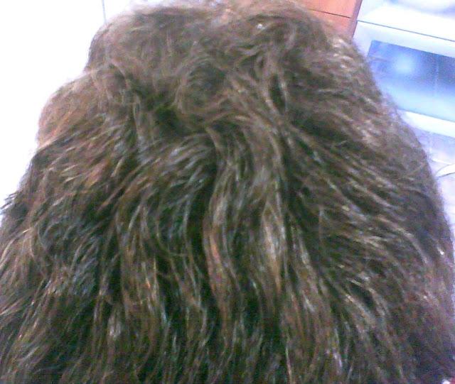 Banho de Brilho no cabelo grisalho.