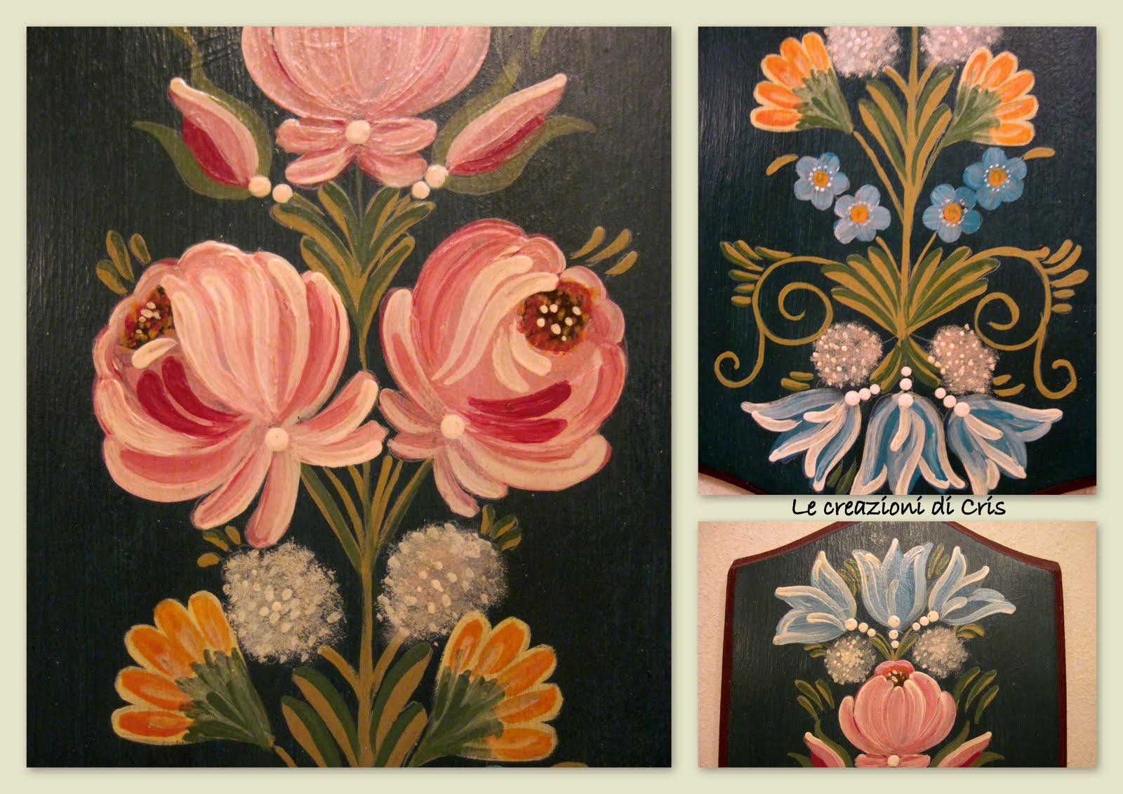 Le creazioni di cris di tutto un p fiori dipinti for Fiori di ciliegio dipinti