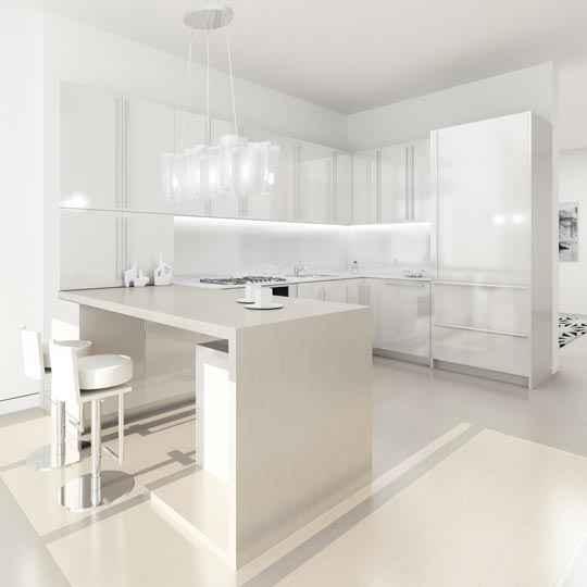 24 Ideas Of Modern Kitchen Design In Minimalist Style: Magdalena Sobula Subiektywnie O Wnętrzach: Białe Wnętrza