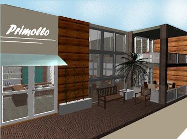 Fachada de madeira e deck modular - Primollo