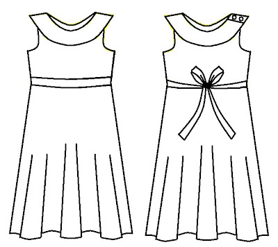 how to draw frock step by step