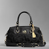 Coach Madison Sateen Sabrina 12947 (Silver/Black)