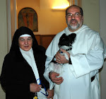 With the Master of the Dominican order and my black and white dog Nicky