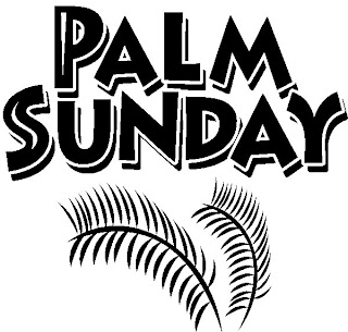 Palm Sunday Palms beautiful clip art image with nice font free download Christian verse pictures and Jesus images