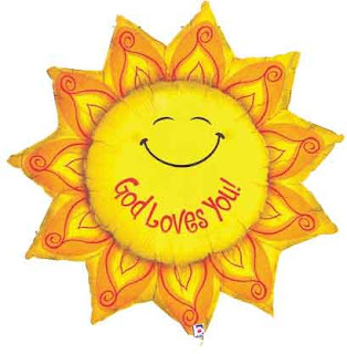 God Jesus Christ loves you smiling sun flower Christian inspirational religious photo