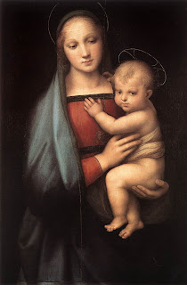 Mother Mary caring the Child Jesus in her hands religious Christian photo