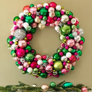 homemade decorated Christmas wreaths with ornament baubles(Christmas balls) picture free download Christian Christmas photos