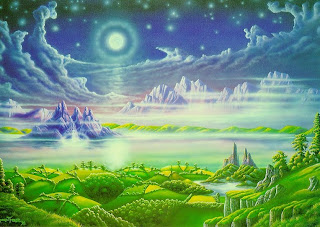 A new heaven and new earth by Jesus Beautiful drawing art image download free PPT backgrounds and religious pictures